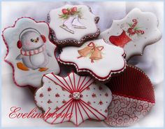 Christmas penguin,skates and bells cookies | Cookie Connection