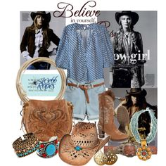 """Original cow girl"" by mary-gereis on Polyvore"