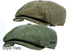 Men s 8 Panel Tweed Baker boy News boy Gatsby Hat Brown Quality Hats and Caps UK