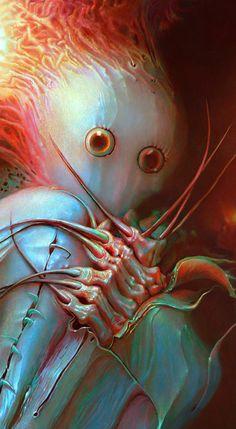 Creepy Art, Weird Art, Creepy Paintings, Illustration Photo, Illustrations, Arte Horror, Horror Art, Surreal Artwork, Macabre Art