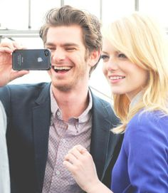 Emma stone and andrew gardield