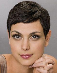 pixie cut, pixie haircut, cropped pixie - Morena Baccarin pixie haircut