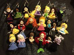 Disney/ Custom String Dolls Keychain by AllysCrochetCreation