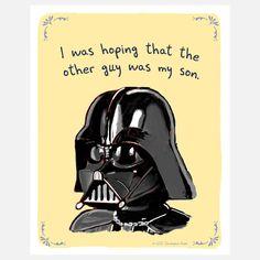 Darth Vader's secret confession.