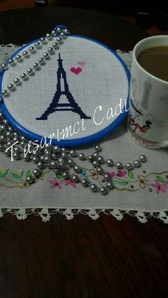 Eiffel tower hoop frame by WITCHSCAULDRON on Etsy