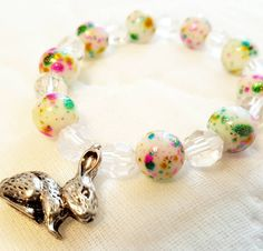Hey, I found this really awesome Etsy listing at https://www.etsy.com/listing/263713776/girls-easter-bracelet-bunny-charm