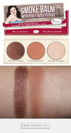 If you like thing beautiful yet simple when it comes to eyeshadow, I have the perfect palette for you. Here's theBalm Smoke Balm Vol 4 Foiled Eyeshadow. Foil Eyeshadow, Eyeshadow Palette, Make Beauty, Contour Makeup, Everything Pink, Do It Yourself Home, War Paint, Beauty Supply, Smokey Eye
