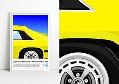 Jaguar XJ-S Advert Poster by jpappleton on Etsy
