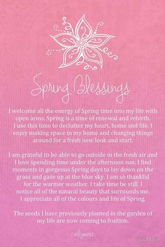 """** Affirmation - """"Spring Blessings"""" @CarlyMarie"""
