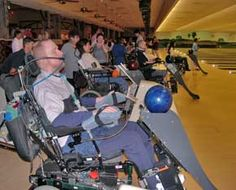 Power Wheelchair Bowling Invention. I would recommend this device since the other bowling ramp that facilities usually use is quite terrible Adaptive Sports, Adaptive Equipment, Pediatric Occupational Therapy, Powered Wheelchair, Disability Awareness, Different Sports, Light Of My Life, Coping Skills, Victoria
