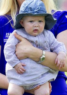 Mia Tindall (daughter of Zara Phillips and Mike Tindall) celebrates her first birthday on 17 January 2015. At the moment, she is Queen Elizabeth's youngest grandchild.