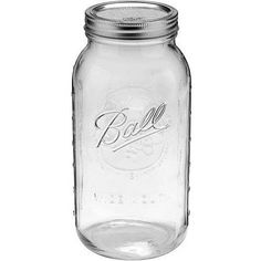 Ball 6-Count Wide Mouth 64-Ounce Jars with Lids and Bands