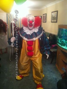 Coolest Homemade Pennywise the Clown Costume... This website is the Pinterest of costumes