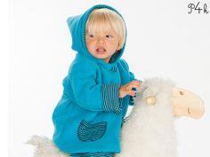 Papierschnitt Jacke mit Zipfel-Kapuze Toretto von pattern4kids - Schnittmuster für Baby- und Kinderkleider als ebook download oder klassischer Papierschnitt mit Nähanleitung und vielen Bildern auf DaWanda.com