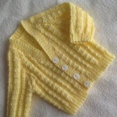 Knitting inspiration is at your fingertips with over knitting patterns to browse through. From knitting patterns for babies and children, to beautiful pattern designs for women and men, there is plenty to discover. Baby Cardigan Knitting Pattern Free, Cardigan Pattern, Baby Knitting Patterns, Loom Knitting, Free Knitting, Toddler Cardigan, Baby Girl Patterns, Crochet Elephant, Baby Sweaters