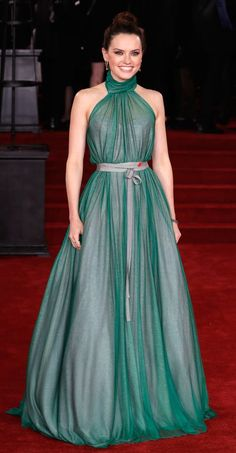 82cf8b6ca53e Daisy Ridley in Vivienne Westwood Couture attends the  Murder On The Orient  Express  London premiere.