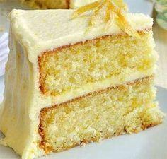 Receta para hacer Pastel con frosting de limón