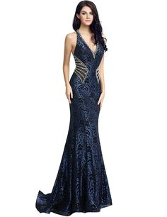 Mermaid Prom Dresses Lace, Beaded Prom Dress, Lace Mermaid, Homecoming Dresses, Bridesmaid Dresses, Outfits Fiesta, Long Evening Gowns, Evening Party, Jovani Dresses