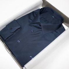 Chemise bleue coton égyptien  chemise bleue  Chemise col italien  chemise coton égyptien  chemise homme  Chemise luxe  chemise poignets simples  chemise sans gorge  chemise unie