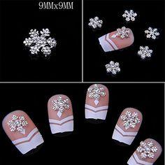 Amazon.com : Catalina 10pcs Rhinestone 3D Alloy Snow Bow Tie Nail Art Glitter DIY Decoration (B) : Nail Polish And Nail Decoration Products : Beauty