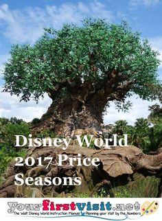Disney World 2017 Price Seasons - The Walt Disney World Instruction Manual… Disney World Prices, Disney World Deals, Disney World 2017, Disney World Vacation Planning, Disney World Parks, Walt Disney World Vacations, Disney Planning, Disney Crowds, Disneyland Vacation