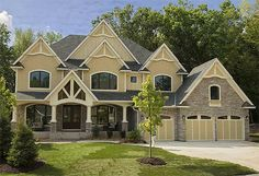 Gorgeous Gabled Dream Home Plan - 73326HS   Craftsman, Northwest, Exclusive, Luxury, Photo Gallery, Premium Collection, 2nd Floor Master Suite, Butler Walk-in Pantry, CAD Available, Den-Office-Library-Study, Jack & Jill Bath, Media-Game-Home Theater, Multi Stairs to 2nd Floor, PDF   Architectural Designs