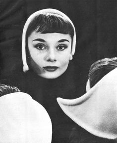 The young actress and model Audrey Hepburn photographed by Erwin Blumenfeld at his studio, on Central Park South, in New York City, New York, in May 1952.Audrey was wearing:Hat: Designed by Blumenfeld and done by Mister Fred (lined with felt).