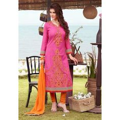 Party Wear Readymade Pink Salwar Suit - 79811