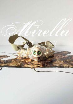 Mrs. Lavinia | Mirella Jewellery Statement bracelet | hand-crafted in Vienna | #bracelet #mirellajewellery #statementjewellery #statementbracelet #jewellery #skull #swarovski #swarovskicrystals #pearlbracelet Jewellery Bracelets, Jewelry, Pearl Bracelet, Vienna, Swarovski Crystals, Skull, Crafts, Jewellery Making, Manualidades