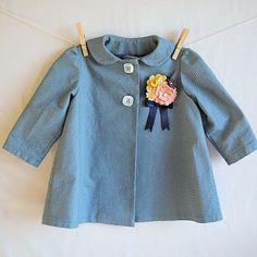 hart + sew | Baby girl coat with flower brooch