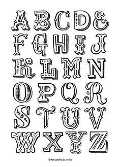 Hand Lettered Alphabet | Alexandra Snowdon