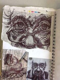 Art carnet, a level art sketchbook, sketchbook ideas, sketchbook layout, sk A Level Art Sketchbook, Arte Sketchbook, Art Sketches, Art Drawings, Portrait Sketches, Sketchbook Inspiration, Sketchbook Ideas, Sketchbook Layout, Illustration