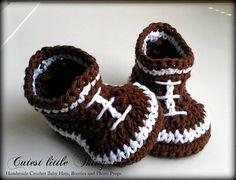 Football Crochet Baby Boy Booties Baby Boy ♥