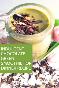 This indulgent chocolate green smoothie for dinner recipe is the perfect smoothie to replace your dinner with because it is luxurious and great for weight loss. Dinner Smoothie, Green Smoothie Cleanse, Green Detox Smoothie, Green Smoothie Recipes, Green Smoothies, Smoothie Diet, Healthy Meal Replacement Shakes, Meal Replacement Smoothies, Healthy Carbs