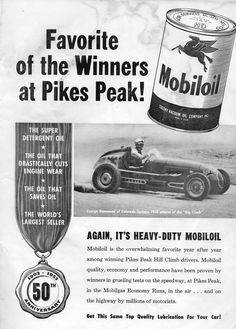 George Hammond won the 1952 Pikes Peak Hill Climb race driving a Kurtis with an Offy motor