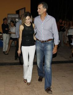 Queen Letizia of Spain and King Felipe of Spain attended a Jaume Anglada concert in Palma de Mallorca, yesterday night. (August 30, 2015)