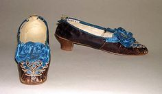 American leather slippers, 1850s