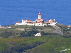 Farol do Cabo da Roca visto do Santuário da Peninha - Portugal
