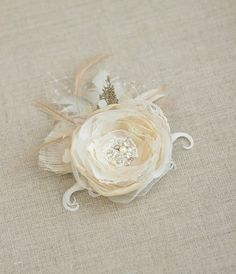 Hey, I found this really awesome Etsy listing at https://www.etsy.com/listing/178917204/wedding-burlap-hair-accessories-vintage