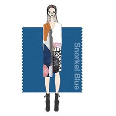 """"""" #SnorkelBlue plays in the navy family, but with a happier, more energetic context. The name alone implies a relaxing vacation and encourages escape. It is striking yet still, with lots of activity bursting from its undertones."""" - Leatrice Eiseman, Executive Director, @Pantone Color Institute. #ss16 #pantonespringpalette #fashioncolorreport #fashionmoments *@angelysbalek"""