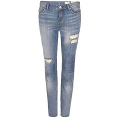 AllSaints Patch Casey Jeans (4.555 RUB) ❤ liked on Polyvore featuring jeans, pants, bottoms, calças, indigo, patched jeans, stretch blue jeans, indigo jeans, vintage jeans and straight leg jeans