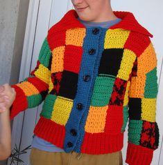 Harry Styles, Crochet Cardigan, Patagonia, Men Sweater, Sweaters, Diy, Fashion, Hoodie Sweatshirts, Mittens