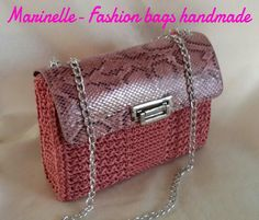 Crochet Purses, Crochet Bags, Knitted Bags, Knit Bag, Pouch, Wallet, Diy Projects To Try, Handicraft, Fashion Bags