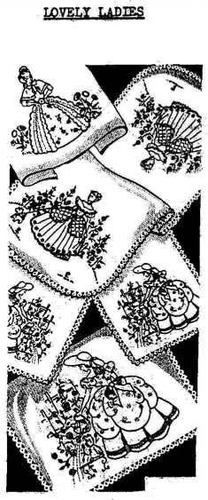 Hand Embroidery Designs Vintage Southern Belles Crinoline Ladies Garden Patterns | eBay