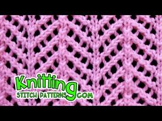 Find out how to knit the Arrowhead Lace sew. It took a bit for me to memorize the sew sample, Lace Knitting Stitches, Lace Knitting Patterns, Lace Patterns, Stitch Patterns, Crochet Pattern, Knitting Videos, Easy Knitting, Knitted Blankets, Youtube