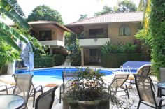 Ppool lounge & chairs Hotel Costa Coral, Tambor, Costa Rica #fun #vacation #family