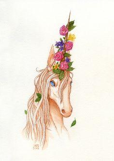 Adorned Unicorn by JayBirdsBrain