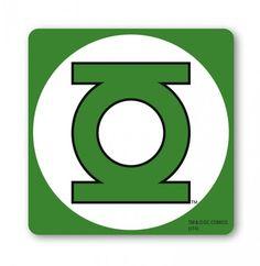 Onderzetter: Green Lantern - Green Lantern Logo Onderzetters www.detoyboys.nl