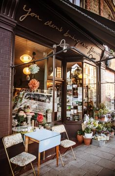 Ma Boutique de Fleurs .. X ღɱɧღ || You Don't Bring Me Flowers cafe and flower shop in London on Gardenista