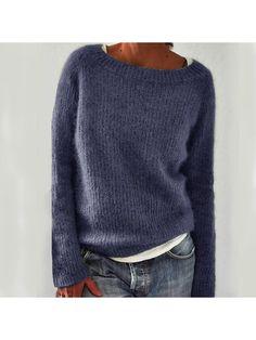 Cardigan Long, Loose Sweater, Sweater Shop, Cotton Sweater, Long Sleeve Sweater, Pullover Sweaters, Pullover Mode, Mode Plus, Casual Sweaters